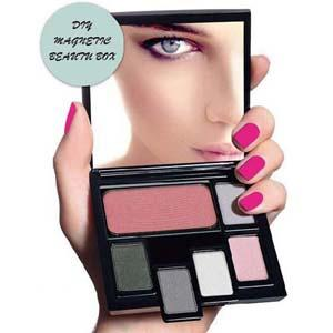 Cosmetics - DIY Magnetic Eyeshadow Beauty Box, Blush & Face Powder ES-005 without