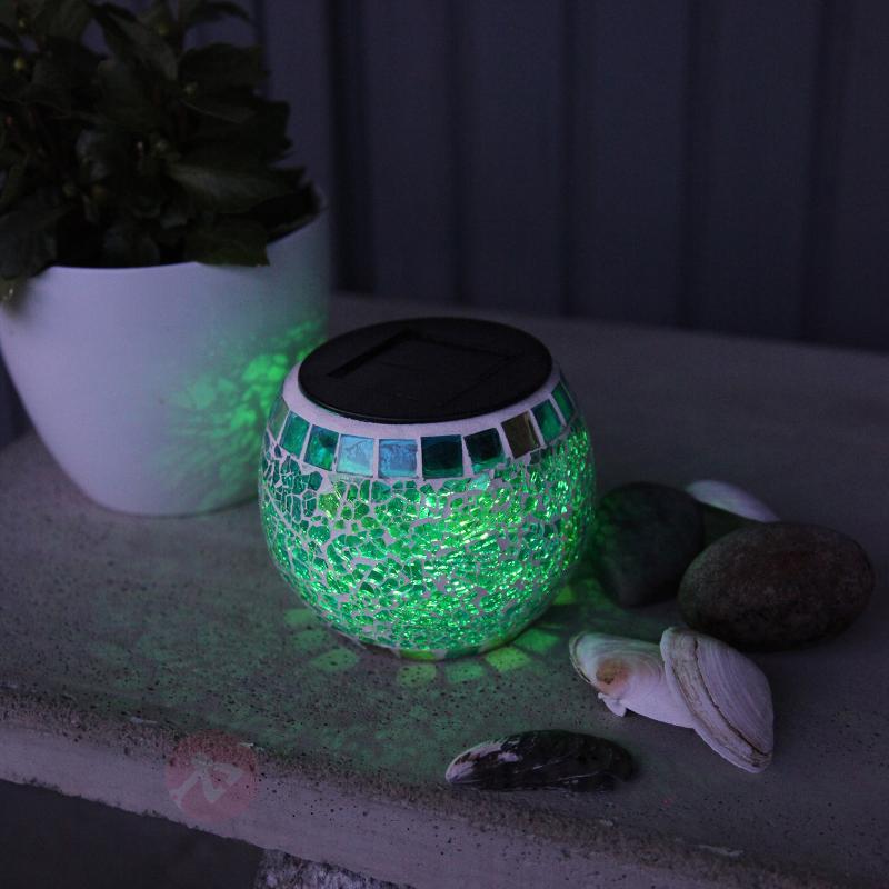 Luminaire mosaïque solaire Brilliant avec LED RGB - Lampes solaires décoratives