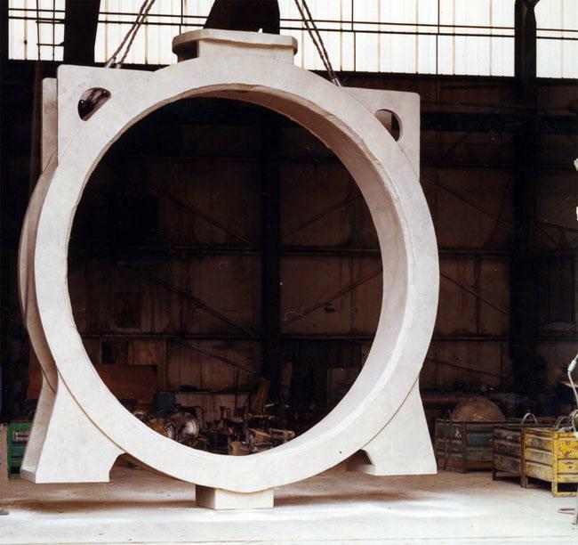 BUTTERFLY Body DN3700 / 16 000Kg - Aluminium Bornze Sand Casting