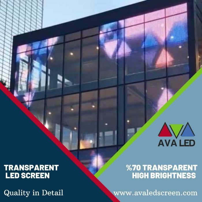 Transparent Led Panel - P3,91 / P7,82 Curtain Led Screen