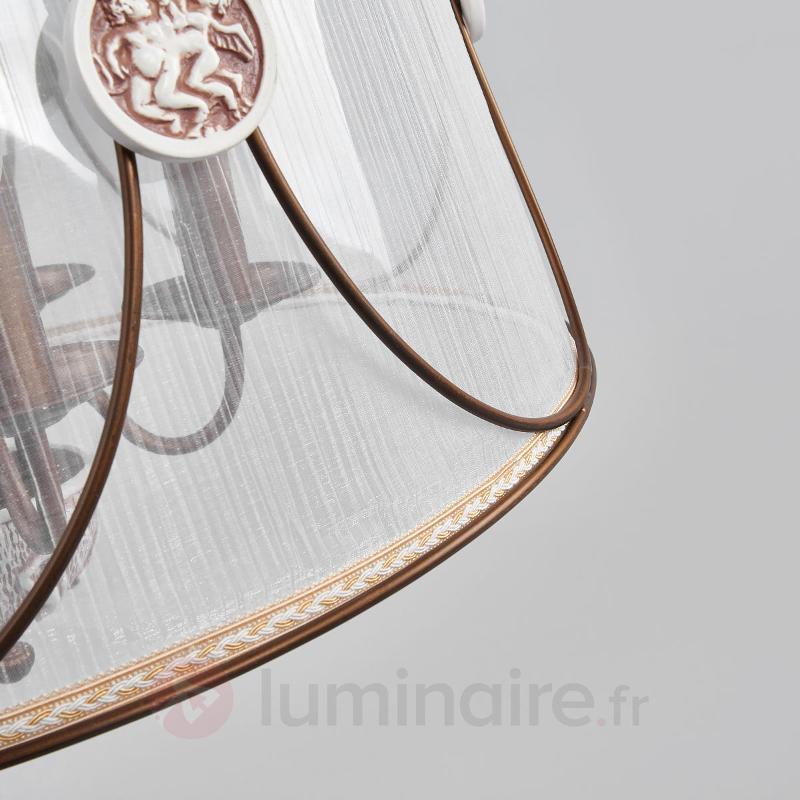 Suspension Letizia avec abat-jour en organza - Suspensions en tissu