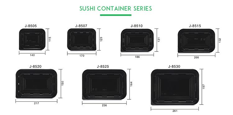 J-85 Series Disposable Plastic Takeaway Food Sushi Tray Container - Sushi Trays