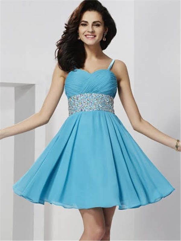 Embroidered Drape Short Evening Dresses - Short Dress