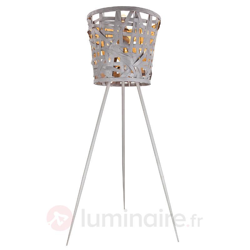 Lampadaire Isai en trépied - Lampadaires en tissu