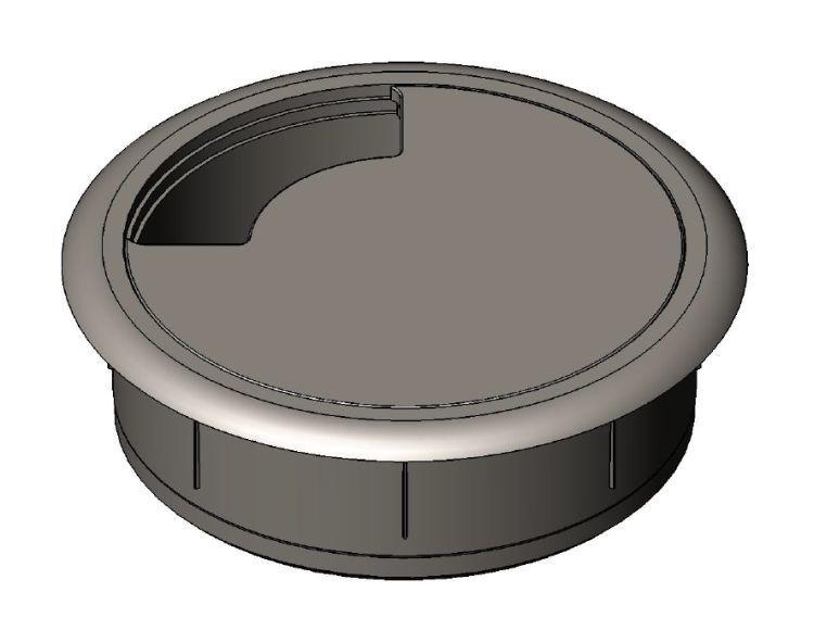 Kabeldurchlass 60mm - Kunststoff - weiß - Kabeldurchlässe