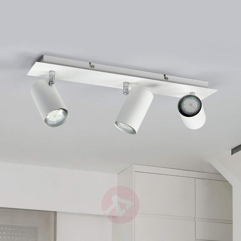 Mia 3-bulb halogen ceiling spotlight, white - Ceiling Lights