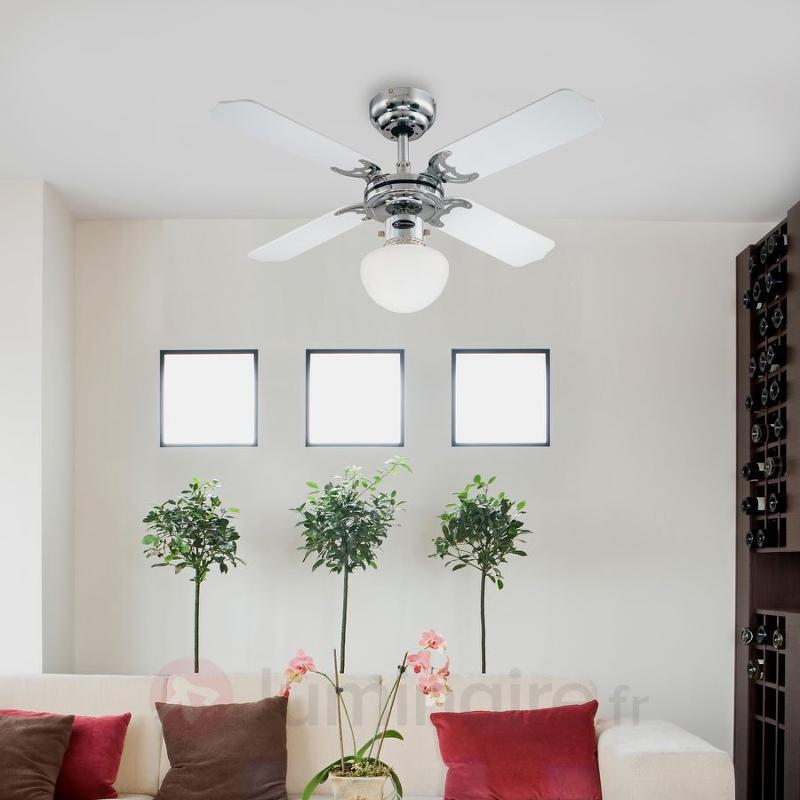 Ventilateur de plafond lumineux PORTLAND AMBIANCE - Ventilateurs de plafond modernes