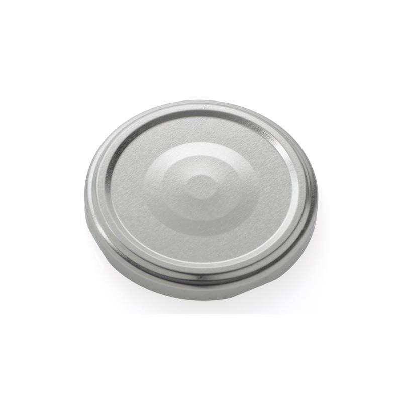 100 capsules TO 43 mm Argent stérilisables avec Flip - ARGENT