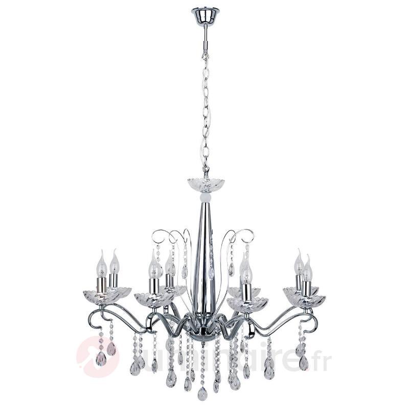Lustre Alessa chromé, 8 lampes - Tous les lustres
