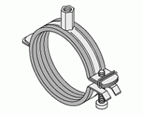 Pipe Clamps - WUS Easy II Hinged Pipe Clamp Rubber Lined