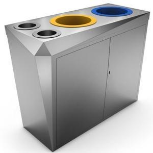 Mobilier de collecte de déchets de bureaux.