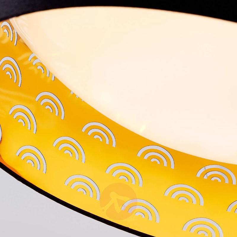 Jorunn - fabric LED ceiling lamp, black and gold - Ceiling Lights