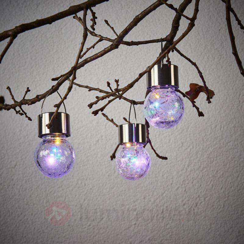 Lot de trois suspensions solaires LED Color Ball - Lampes solaires décoratives