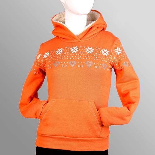 fleece women printing pullover hoodies sweatshirts