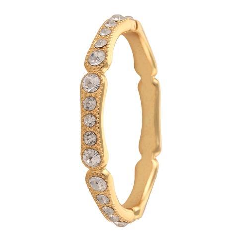 Gold Tone Bracelet with Zircons Adjustable Free size