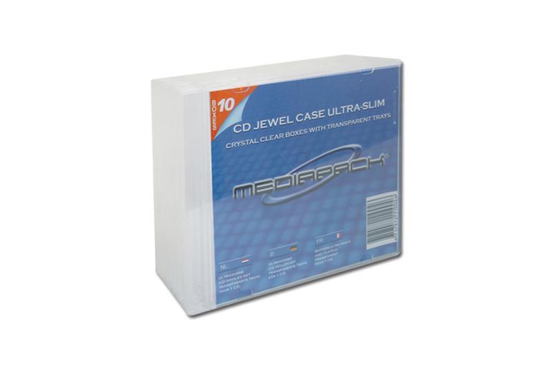 CD Slimcase 10er Pack - MPI - transparent - Retailverpackungen & Zubehör