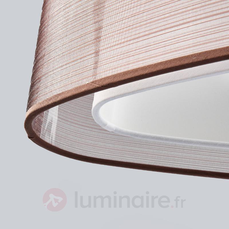 Suspension textile ovale Nica, brune - Suspensions en tissu