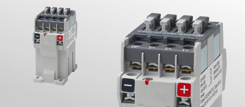 DC contactors 4 pole - 4 pole DC contactors for battery voltages up to 110 V