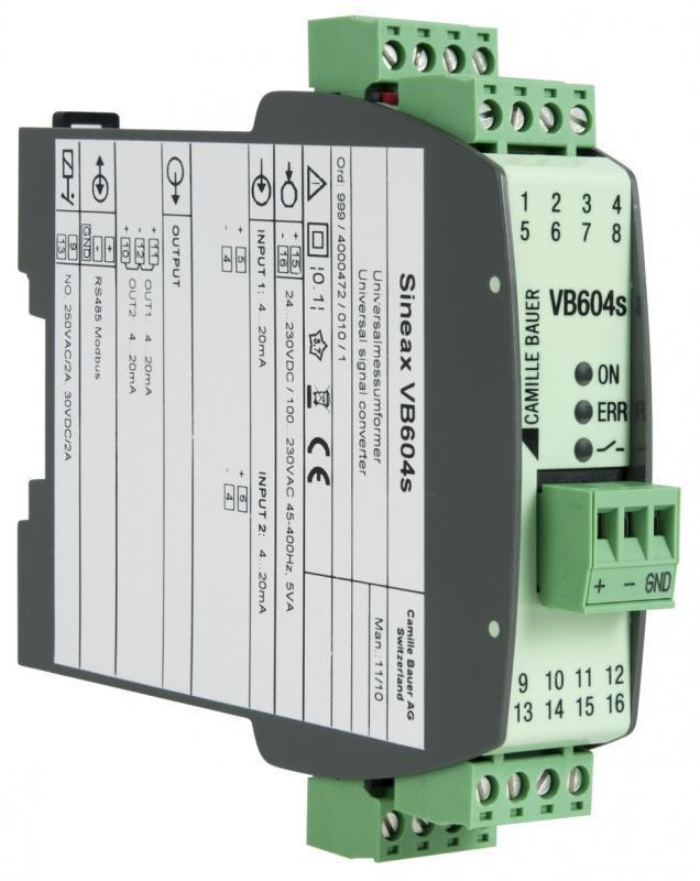 SINEAX VB604s - Convertisseur de mesure multifonctionnel programmable