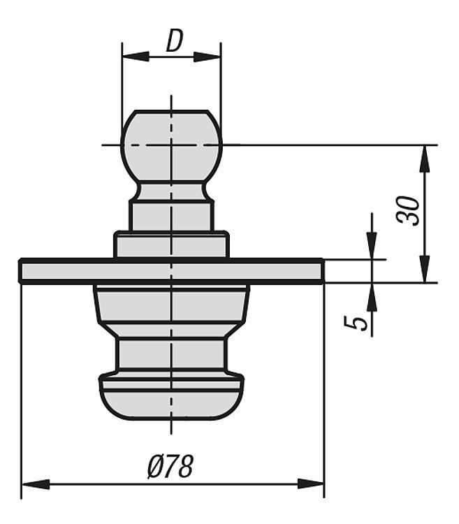 Kit de fixation pour stabilisateur de pièce - Éléments d'appui et de support