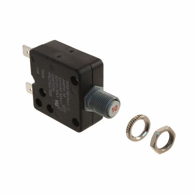 CIR BRKR THRM 10A 250VAC 50VDC - TE Connectivity Potter & Brumfield Relays W58-XB1A4A-10