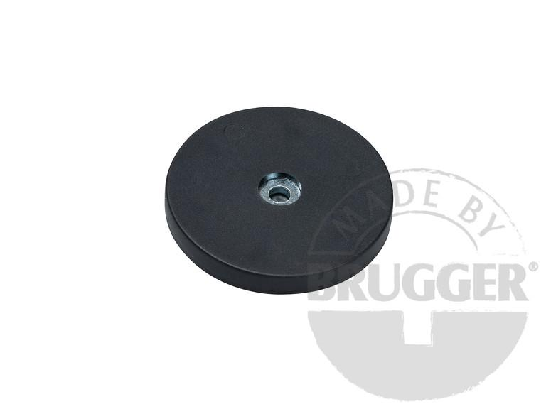 Magnet assembly, NdFeB, plastic coat, rubberized - null