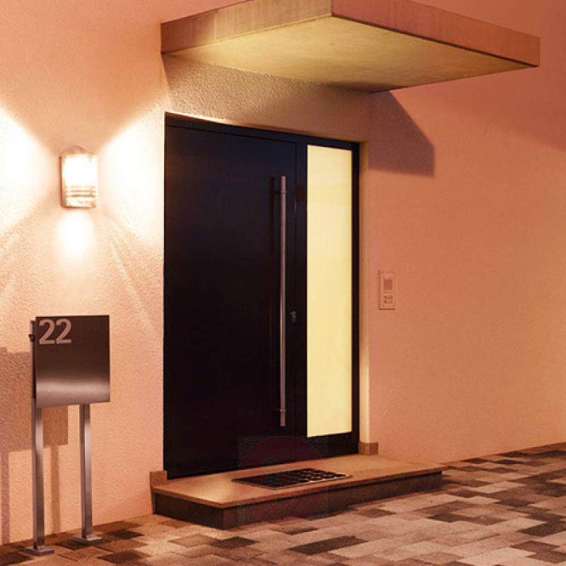 Steinel L 170 outdoor wall light, sensor, steel - stainless-steel-outdoor-wall-lights