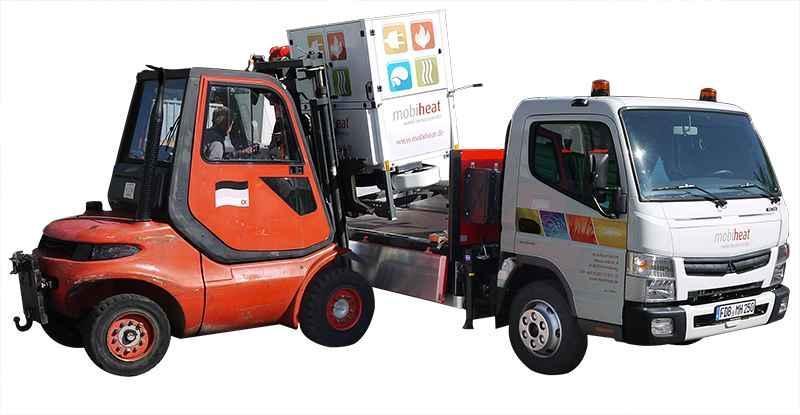 Vermietung orange-line - Heizbox/mobil MH70