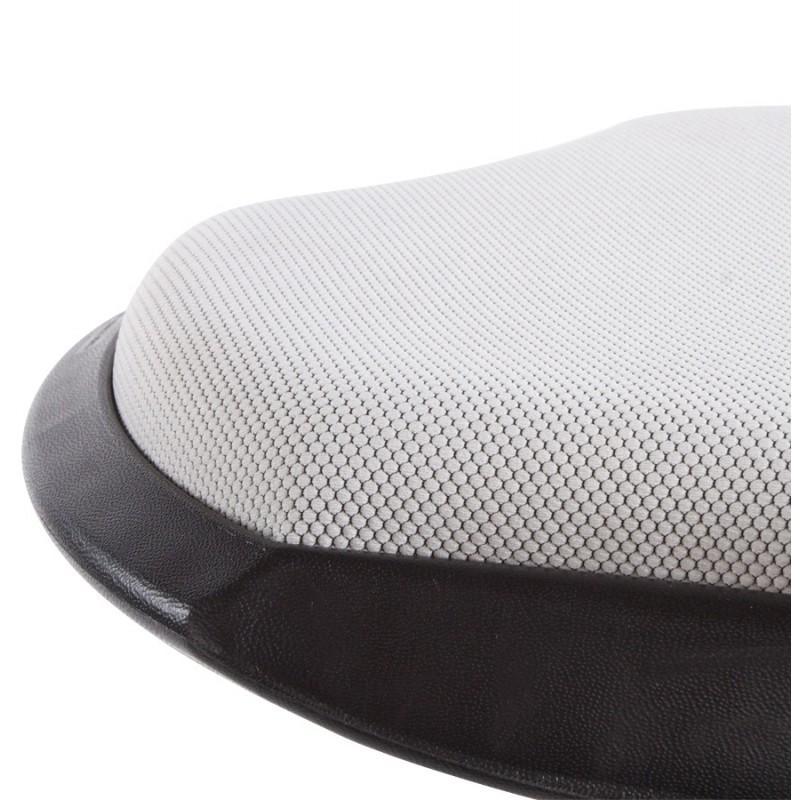 Tabouret VIENNE en tissus gris - Tabourets de bar design-642681427761