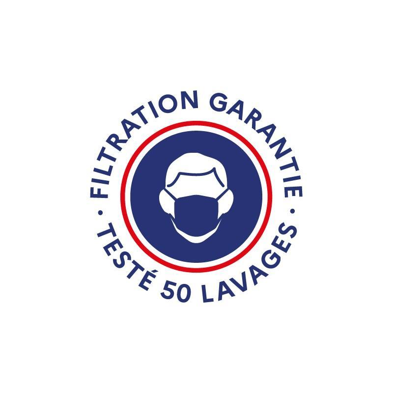 Masque Tissu Dga 50 Lavages Bleu Patriot (Préconisation Afnor) - null