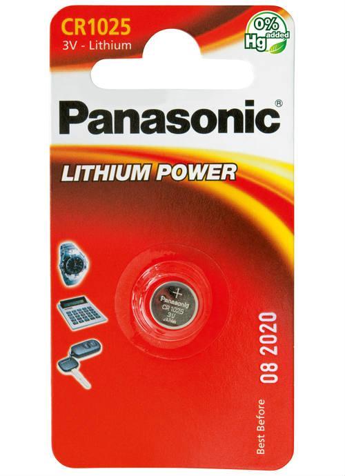 Batterie al litio a bottone CR1025 - CR-1025L/1BP | Blister da 1 microbatteria specialistica Panasonic