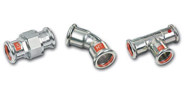 Rohrleitungssystem SANHA®-Therm Industry, C-Stahl - C-Stahl-Rohrsystem, FKM