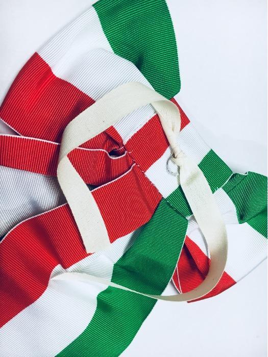 Nastro tricolore per gonfalone - Nastro tricolore per asta gonfalone