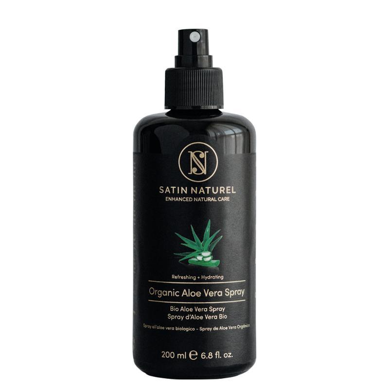 Organic Aloe Vera Spray - Body Spray In 200ml Bottle - Natural After Sun Lotion -Satin Naturel Vegan Skin Care Made in Germany