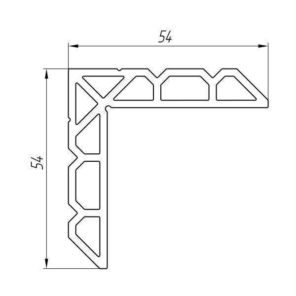 Aluminum Profile For Inserts And Sliding Blocks Ат-2634 - Aluminum profile for inserts and sliding blocks