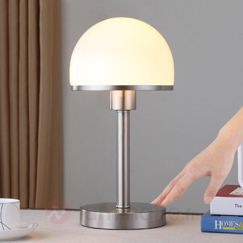 Lampe à poser stylée Jolie abat-jour en verre - Lampes de chevet