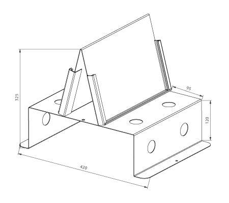 Modular shop rack systems & instore interior shelving design - Tap presentation (on desk)