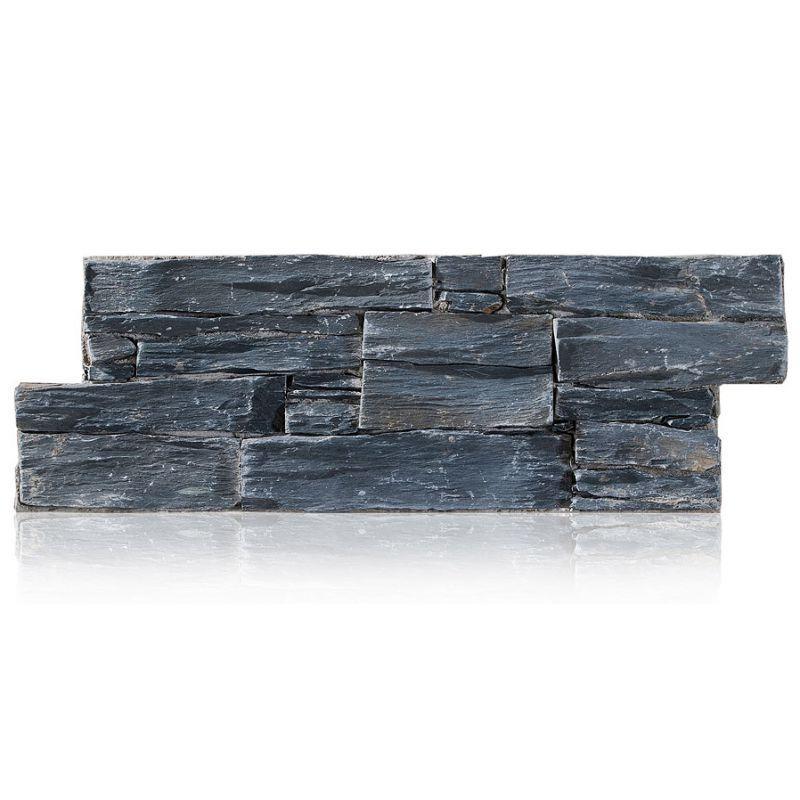 revêtement de mur - parement Stonepanel en Ardoise noir