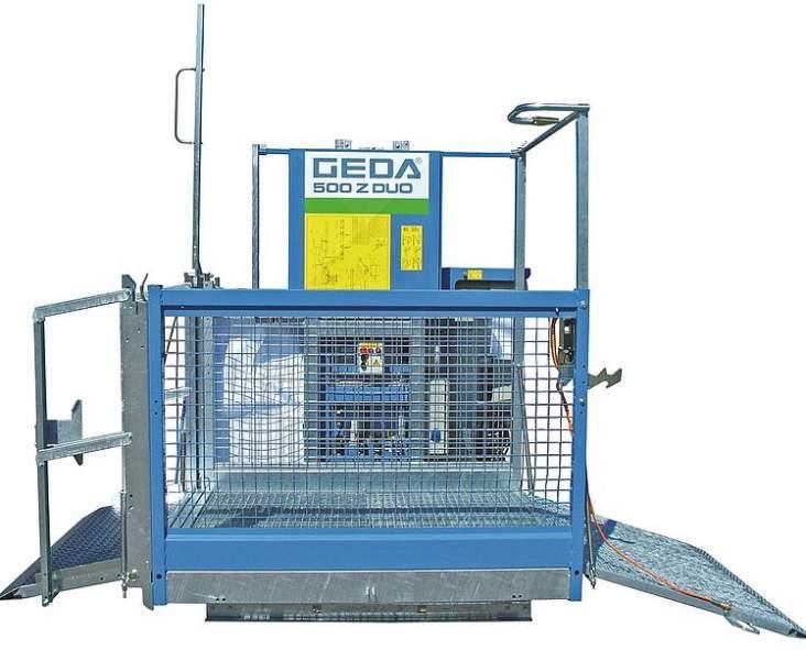 GEDA 500 Z DUO - GEDA 500 Z DUO - Materialaufzüge