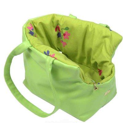 Shopping carrier green flowers for Pets
