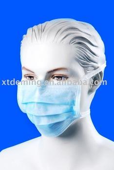 Einweg-Gesichtsmaske mit Binde- oder Ohrenschlaufe