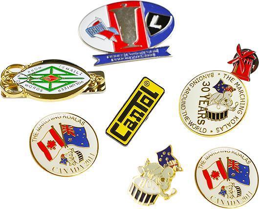 Badges & Tie Clip