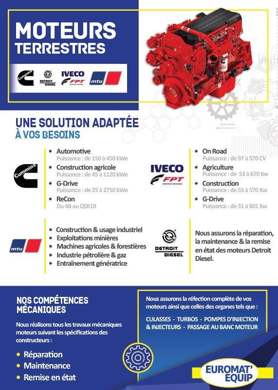 Moteurs industriels - Distributeur Cummins, Detroit Diesel, MTU & Iveco-FPT
