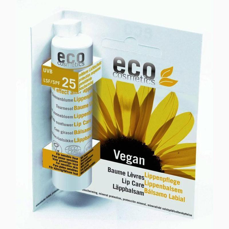 ECO Lippenpflegestift LSF 25 vegan - 4g mit Sonnenblume - null