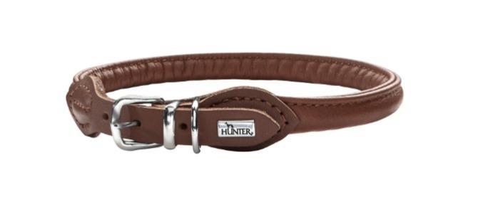 Collier cuir Hunter - Round & Soft  cuir de boeuf souple
