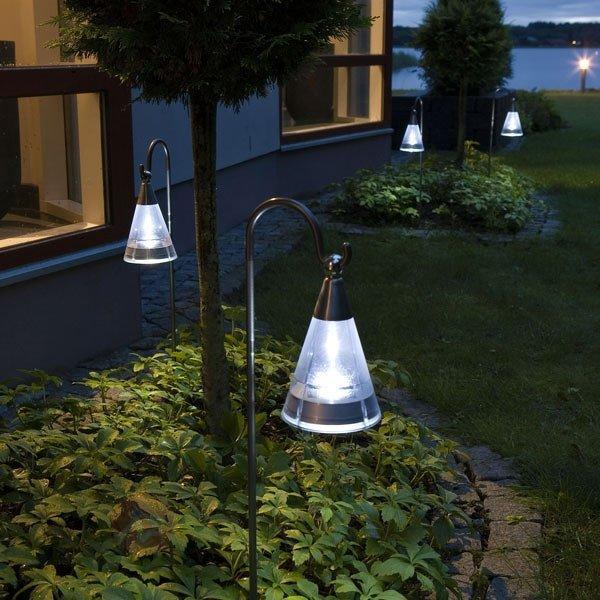 Lampe solaire ASSISI en inox à lumière LED - Lampes solaires décoratives