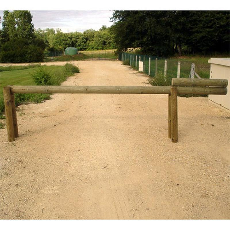 Barrière en bois levante - Passage 3 mètres - Aménagement parking