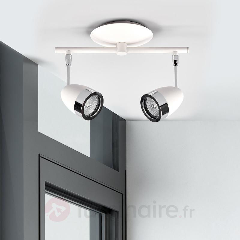 Spot halogène blanc et chromé - Spots et projecteurs halogènes