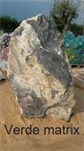 Monolithe - Rocher de marbre verde matrix : I