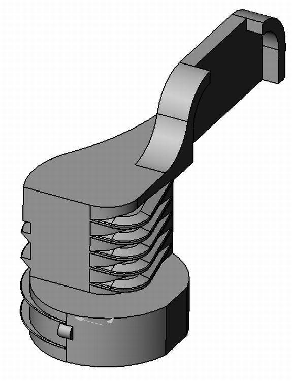 Rückwandverbinder - Zamak - blank - Rückwandhalter